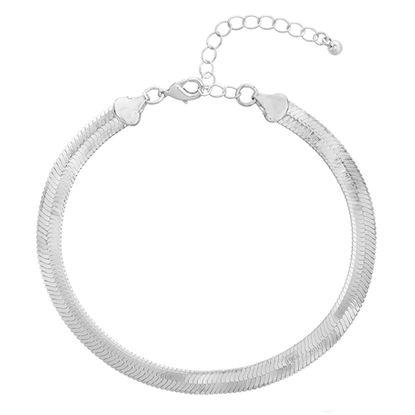 Imagen de Silver-Tone Herringbone Chain Anklet