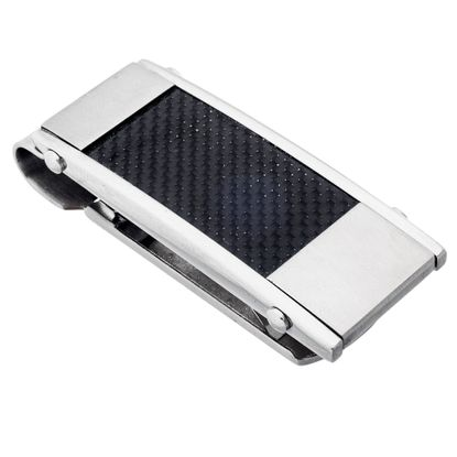 Imagen de Men's Silver-Tone Stainless Steel Money Clips
