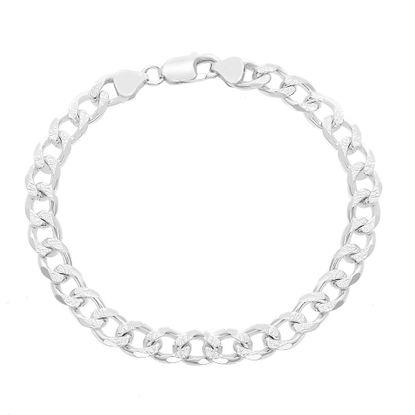 Imagen de E-Coat Sterling Silver 9 Curb Chain Bracelet