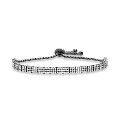 Imagen de Sterling Silver Cubic Zirconia Tennis Slider Bracelet
