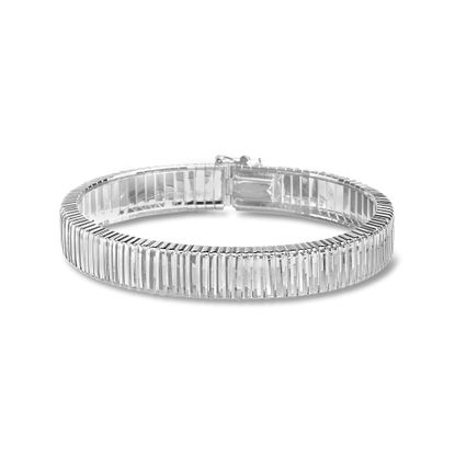 Imagen de Sterling Silver E-Coat Ribbed Design Bracelet