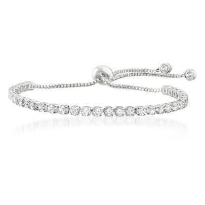 Imagen de Cubic Zirconia Slider Bracelet in Sterling Silver