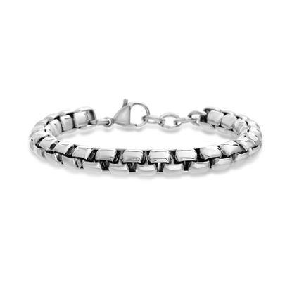 Imagen de Men's Stainless Steel Box Link Bracelet