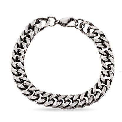 Imagen de Silver-Tone Stainless Steel 7 Curb Chain Bracelet