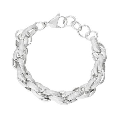 Imagen de Twisted Rolo Link Bracelet in Stainless Steel