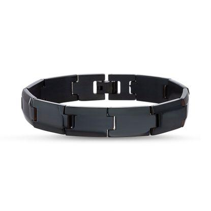 Imagen de Black-Tone Stainless Steel IP Bracelet