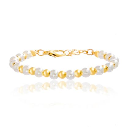 Picture of Gold-Tone Alloy Pearl Beaded Bracelet