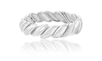 Imagen de Silver-Tone Alloy Textured Design Stretch Bracelet