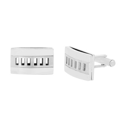 Imagen de Stainless Steel Rectangular Cufflinks