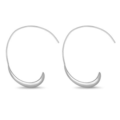 Picture of E-Coat Sterling Silver Threader 38mm Hoop Earrings