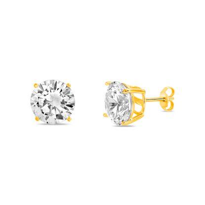 Imagen de Sterling Silver 10MM AAA Quality CZ Round Stud Earring