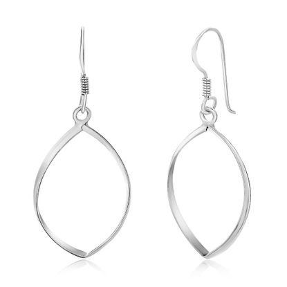 Imagen de Sterling Silver Ecoat Open Marquis Dangle Earrings