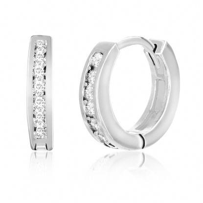 Imagen de Cubic Zirconia Huggie Earring in Sterling Silver