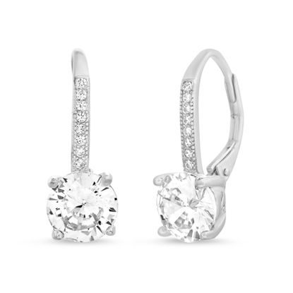 Picture of Cubic Zirconia Lever Back Earrings in Sterling Silver
