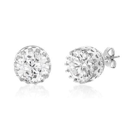 Imagen de Cubic Zirconia Stud Earring in Sterling Silver