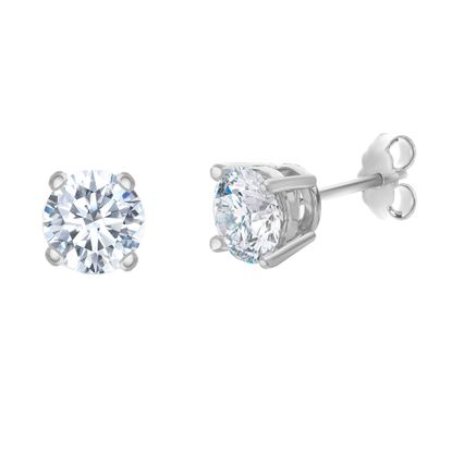 Picture of Sterling Silver 5mm Cubic Zirconia Stud Post Earring