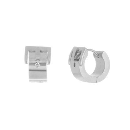 Imagen de Silver-Tone Stainless Steel Belt Buckle Design Huggie Earring