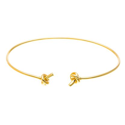 Imagen de Sterling Silver Rope Knot Ends Cuff Bangle