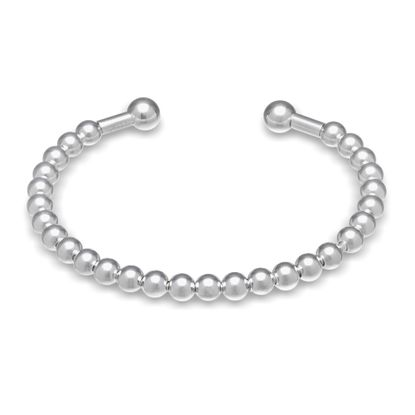 Imagen de Polished Ball 5.25 Baby Bangle in Sterling Silver
