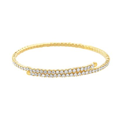 Picture of Cubic Zirconia Bypass Bangle