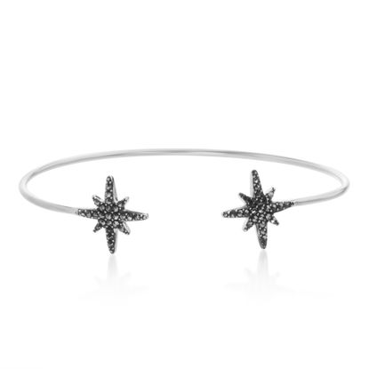 Imagen de Sterling Silver  Marcasite Star Cuff Bangle