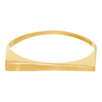 Imagen de Gold-Tone Stainless Steel Polished Graduated Bar Bracelet