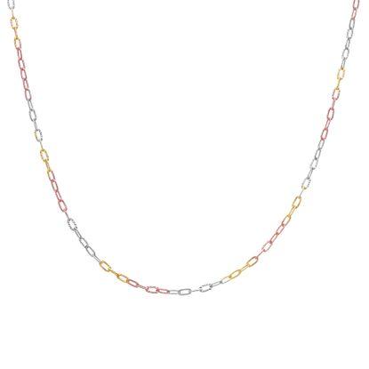 Imagen de Sterling Silver 16 Tri-C  Necklace