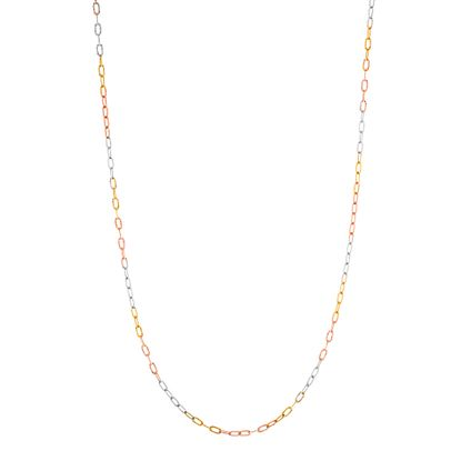 Imagen de Tri-Tone Sterling Silver 18 Necklace