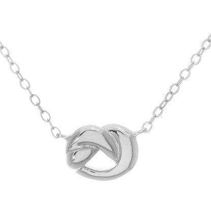 Imagen de Sterling Silver Polished Knot Design Necklace