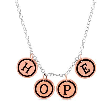 Imagen de Two-Tone Sterling Silver HOPE Charm Necklace