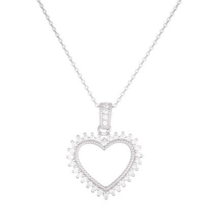 Imagen de Open Heart Pendant in Sterling Silver