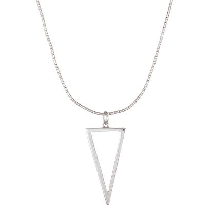 Imagen de Sterling Silver Ecoat Open Triangle Necklace
