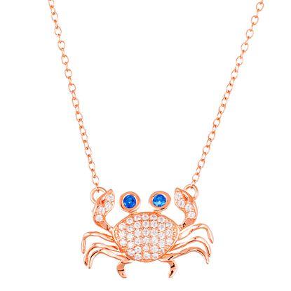 Imagen de Pave CZ Crab Necklace