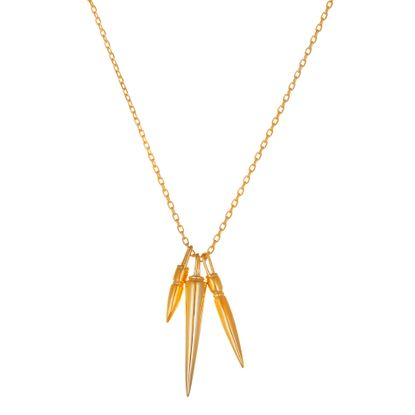 Imagen de Three Spike Necklace in Gold over Sterling Silver