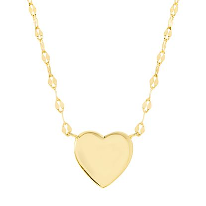 Imagen de Sterling Silver Heart Station Necklace