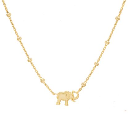 Picture of Sterling Silver Elephant Pendant 16 Cable Chain Necklace