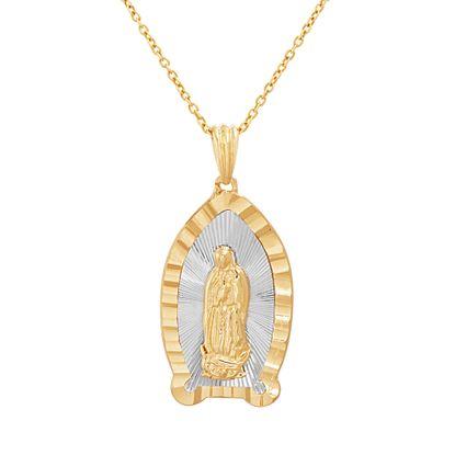 Imagen de Two-Tone Religious Pendant Cable Chain Necklace