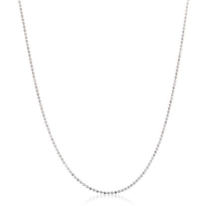 Imagen de Sterling Silver 120 Gauge Bead Necklace