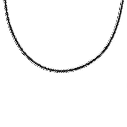 Imagen de Two-Tone Stainless Steel Men's 22 Braided Wire Necklace