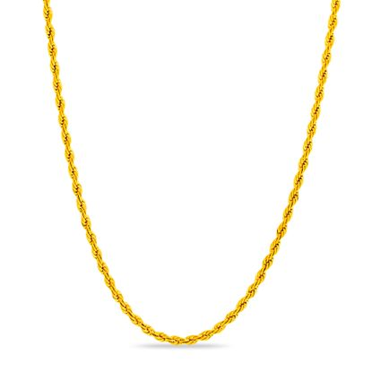 Imagen de Gold-Tone Stainless Steel 30 Rope Chain Necklace