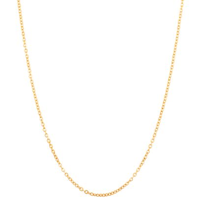 Imagen de Gold-Tone Stainless Steel Cable Chain Necklace