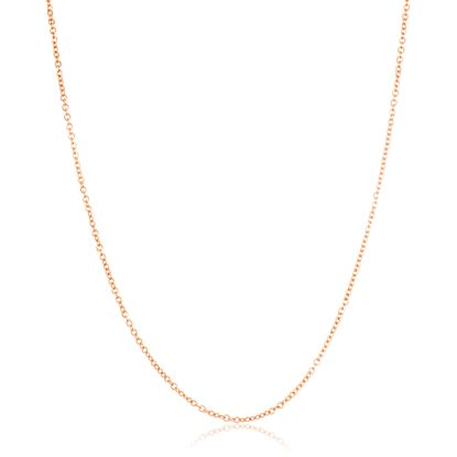 Imagen de Rose Gold-Tone Stainless Steel Cable Chain Necklace