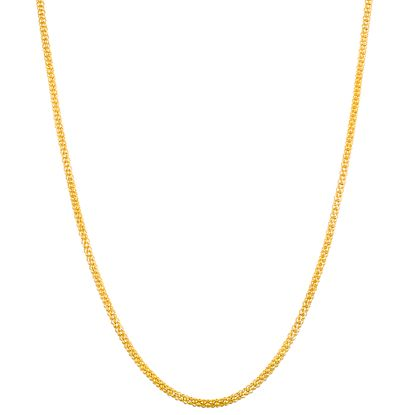 Imagen de Gold-Tone Stainless Steel 16 Popcorn Chain Necklace