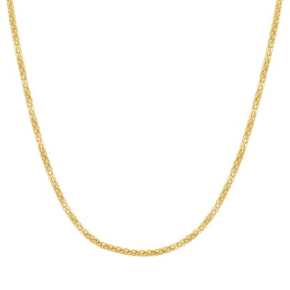 Imagen de Gold-Tone Stainless Steel 20 Popcorn Chain Necklace