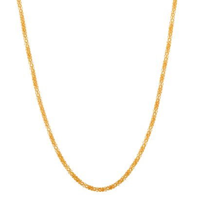 Imagen de Gold-Tone Stainless Steel 30 Popcorn Chain Necklace