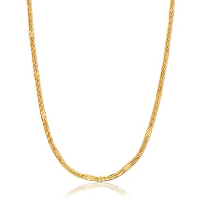 Imagen de Gold-Tone Stainless Steel 18 Snake Chain Necklace