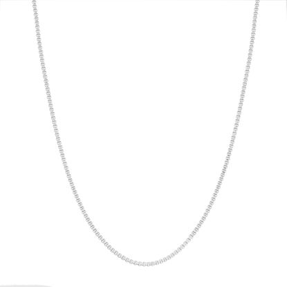 Imagen de Silver Tone Stainless Steel Box Chain Necklace 30