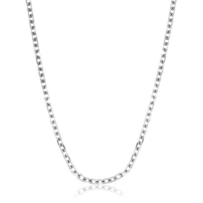 Imagen de Silver-Tone Stainless Steel Curb Chain Necklace