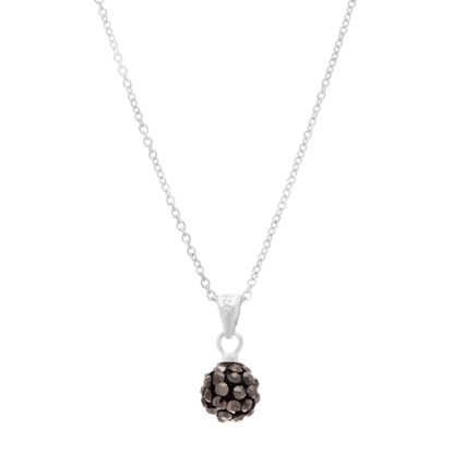 Picture of Sterling Silver Hematite Grey Ball Pendant