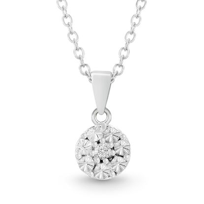 Picture of Diamond Accent Pendant Necklace in Rhodium over Sterling Silver